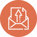 address, arrow, communication, email, letter, mail, message icon