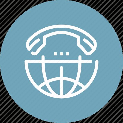 call, communication, global, international, online, phone, world icon