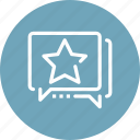 communication, message, rank, ranking, rating, review, star icon
