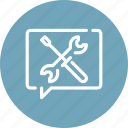 configure, help, message, options, settings, system, tools icon