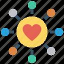 circle, customer service, heart, love, ornament, support icon