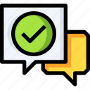 chat, communication, message, suggestion icon