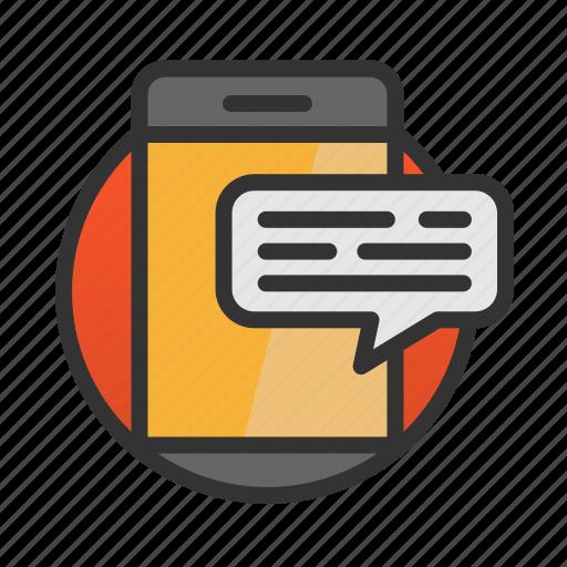 customer, service, smartphone, talk icon