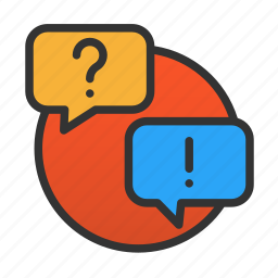 customer, question, service icon
