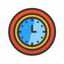 clock, customer, hour, service icon