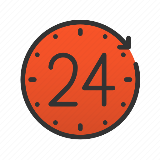 clock, customer, hours, service, time icon