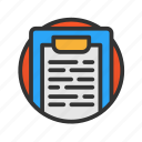 customer, list, service icon