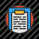 customer, list, service icon