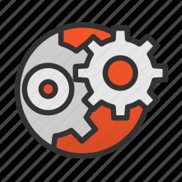 customer, service, settings icon