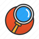 customer, magnifier, search, service icon
