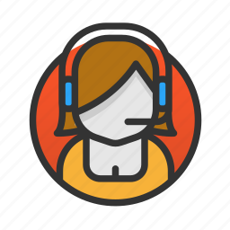 customer, operator, service icon