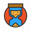 customer, hourglass, service icon