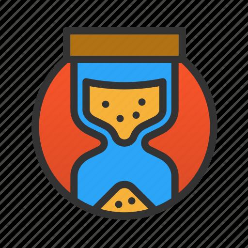customer, hourglass, service icon