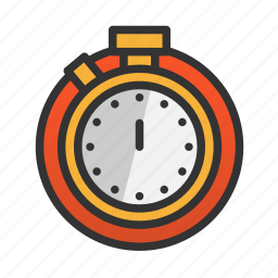 customer, service, stopwatch icon