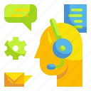 callcenter, communications, information, operator, phone, support icon