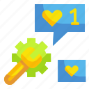 favorite, gestures, like, quality, star icon