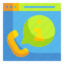 communication, help, informantion, phone, support icon