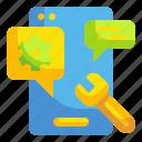 communication, customer, information, phone, service icon
