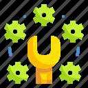 gear, maintenance, repair, service, tools icon