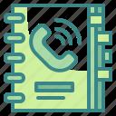 agenda, customer, date, notebooks, time icon