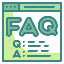 answer, faq, help, information, question icon