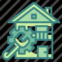 customer, home, house, jobs, service icon