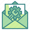 communication, connect, letter, mail, postcard icon
