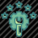 customer, degree, grade, rating, star icon