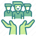 assistance, care, help, humanitarian, support icon