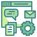 application, data, intreface, webpage, website icon