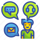 channel, communications, internet, mail, media, multi, social icon