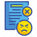 anger, bad, complaints, dissatisfaction, review icon