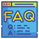 answer, faq, help, information, question icon