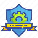 check, guarantee, protected, quality, shield icon