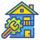 service, jobs, home, house, customer icon