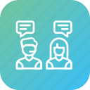 communication, conversation, customer, help, service, support, talk icon