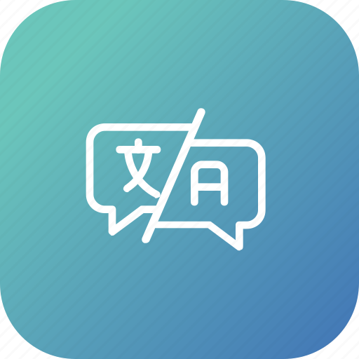answer, feedback, language, question, support, translate, word icon