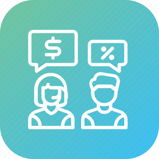 conversation, customer care, discount, discussion, price, service, support icon