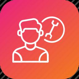 care, customer, help, maintenance, service, support, technician icon