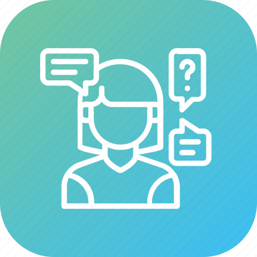 Customer, query, questionnaire, questions icon - Download on Iconfinder