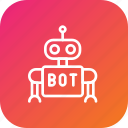 automatic, bot, customer, help, reply, robot, support icon