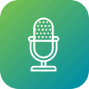 audio, mic, mike, record, voice icon
