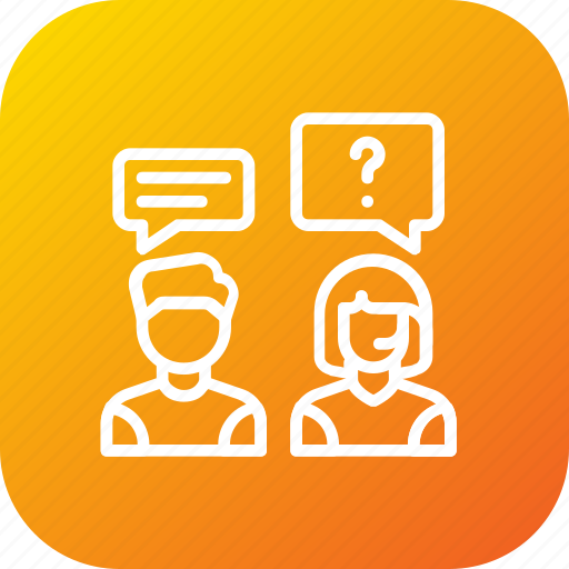 answer, care, customer, help, question, service, support icon