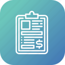 clipboard, form, information, note, report icon