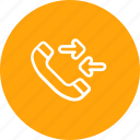 call, communication, phone, receive, telephone icon