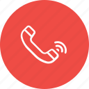 call, communication, phone, receive, signal, speaker, telephone icon