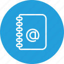 address, contact, diary, phonebook icon