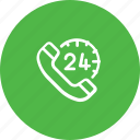 allday, care, customer, fullday, help, support, telephone icon