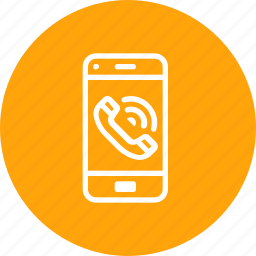 call, communication, mobile, phone, telephone icon