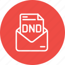 disturb, dnd, do, mail, message, not, service icon